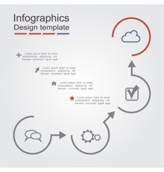 Infographic report template layout vector image