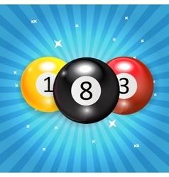 Ivories Billiard Balls Background vector image vector image