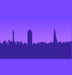 london city building beauty landscape silhouettes vector image vector image