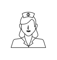 nurse avatar character icon vector image