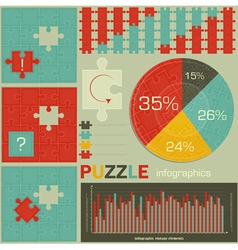 Puzzle for infographics vector