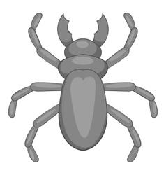 Rhinoceros beetle icon cartoon style vector