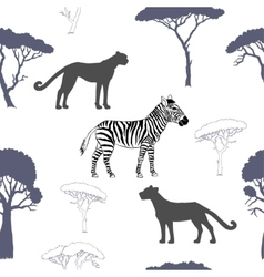 Seamless pattern with savanna animals-02 vector image vector image