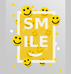 smiley faces design elements vector image