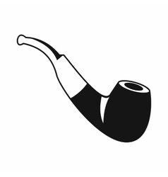 Smoking pipe icon simple style vector image