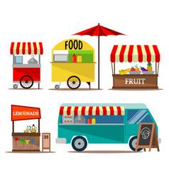 Street food seller collection vector