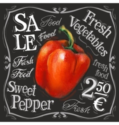 Sweet pepper logo design template fresh vector