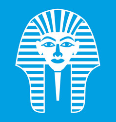 tutankhamen mask icon white vector image