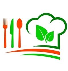 vegetarian restaurant emblem vector image vector image