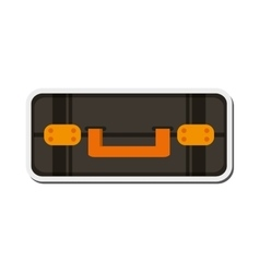 travel suitcase topview icon vector image
