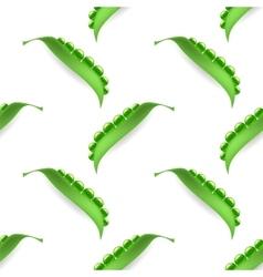 Fresh Natural Green Peas Seamless Pattern vector image