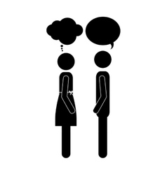 Conversation between man and woman icon image vector