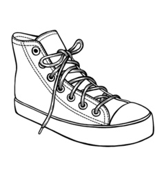 Hand drawn sketch of sport shoes vector image