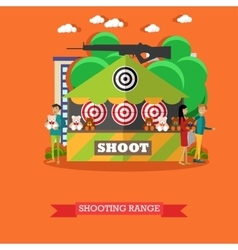 Shooting range attraction vector