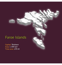 3d map of the faroe islands vector
