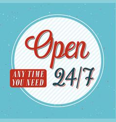 Open banner typographic design vector