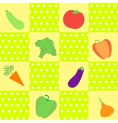 Background with different vegetables vector