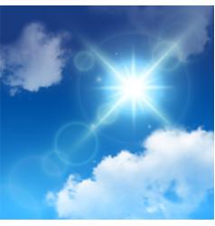 Realistic sun lens flare vector