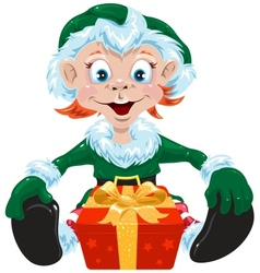 Christmas gnome vector