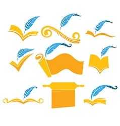 reading symbols vector image