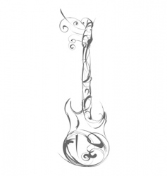 Guitar made out of decorative vector