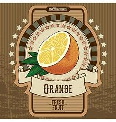 fruit label vector image