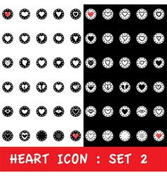 Love heart icon set on white background vector
