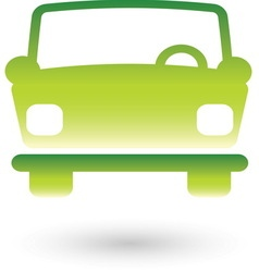 Green car 2 resize vector image