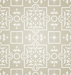 East pattern beige background vector