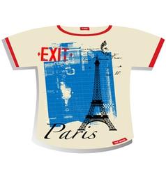 paris t shirt vector image