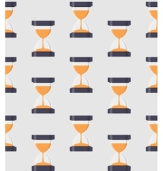 Hourglass sandglass icon seamless pattern vector