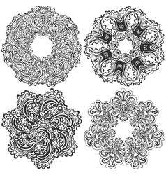 Set of round pattern vector