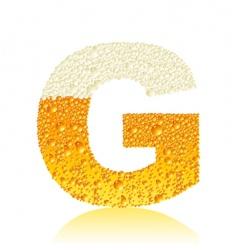 alphabet beer g vector image vector image
