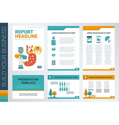 Annual report book cover and presentation template vector image vector image