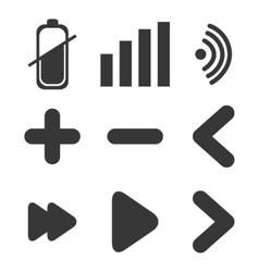 Applications menu design vector