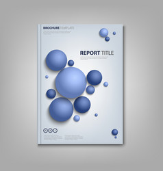 Brochures book or flyer with abstract blue balls vector