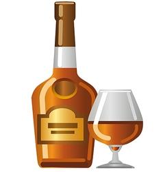 cognac icon vector image vector image