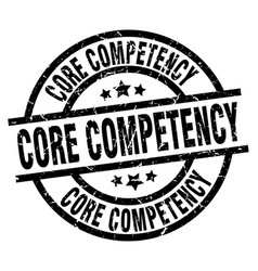 core competency round grunge black stamp vector image vector image