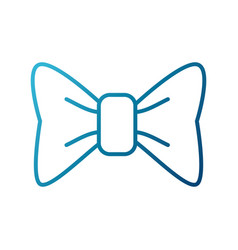 decorative bow isolated vector image vector image