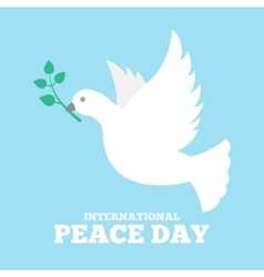 Dove of peace icon flat vector image