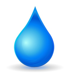 Drop of water with vivid color vector image vector image