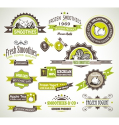 Fruit Product Labels vector image