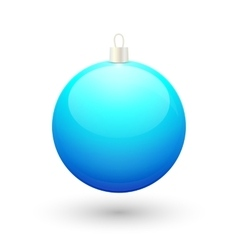 Gradient christmas blue ball vector image