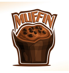 logo for chocolate muffin vector image