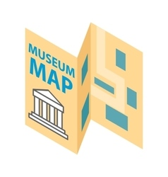 Museum map icon isometric 3d style vector image