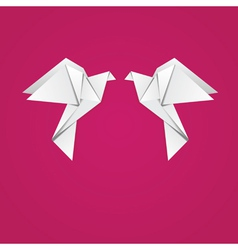 Origami pigeons vector image vector image