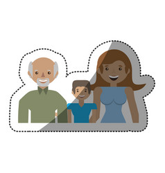 people family members lovely vector image vector image