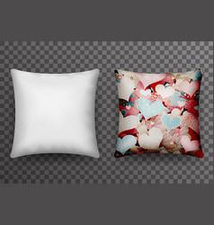 realistic 3d soft pillow sleep transparent vector image