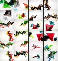 Set of triangle design geometric abstract vector image
