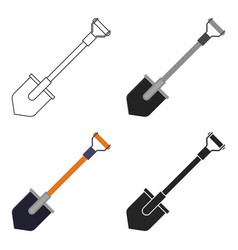 Shovel icon in cartoon style isolated on white vector